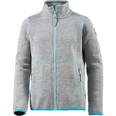 ICEPEAK TEA Strickfleece Kinder light-grey