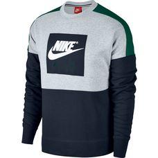 Nike CREW AIR FLC Sweatshirt Herren birch heather-green noise