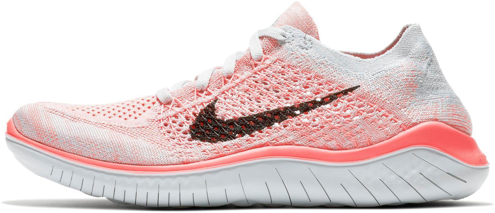Nike FREE RN FLYKNIT 2018 Laufschuhe Damen crimson-pulse-black-pure ...