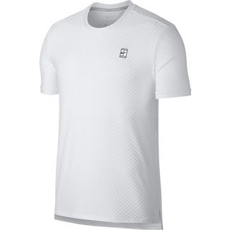 Nike M NKCT TOP SS CHECKERED BL Tennisshirt Herren WHITE/(BLACK)