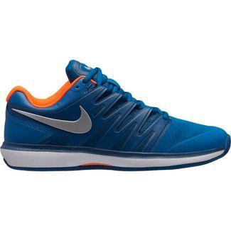 Nike NIKE AIR ZOOM PRESTIGE CLY Tennisschuhe Herren GREEN ABYSS/MTLC SILVER-BLUE FORCE-WHITE-HYPER CRIMSON