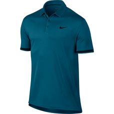 Nike M NKCT DRY POLO TEAM Tennis Polo Herren GREEN ABYSS/BLACK/(BLACK)