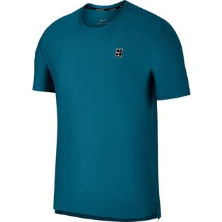 Nike M NKCT TOP SS CHECKERED BL Tennisshirt Herren GREEN ABYSS/(BLACK)