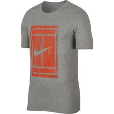 Nike M NKCT TEE 1 Tennisshirt Herren DK GREY HEATHER/(VINTAGE CORAL)
