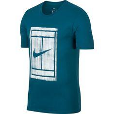 Nike M NKCT TEE 1 Tennisshirt Herren GREEN ABYSS/(WHITE)
