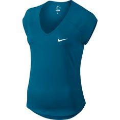 Nike W NKCT TOP PURE Tennisshirt Damen neo turq