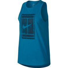 Nike W NKCT TANK TOMBOY Tennisshirt Damen neo turq