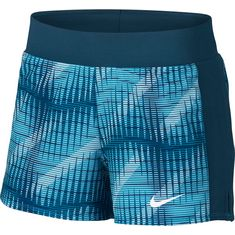 Nike W NKCT FLX PURE SHORT PR Tennisshorts Damen blue force
