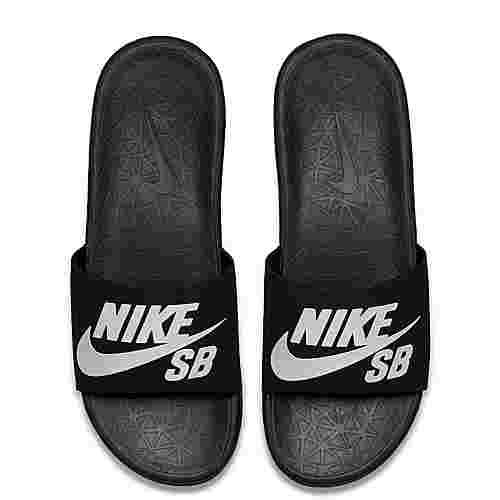 nike slides benassi sandalen herren black white im online shop von sportscheck kaufen. Black Bedroom Furniture Sets. Home Design Ideas