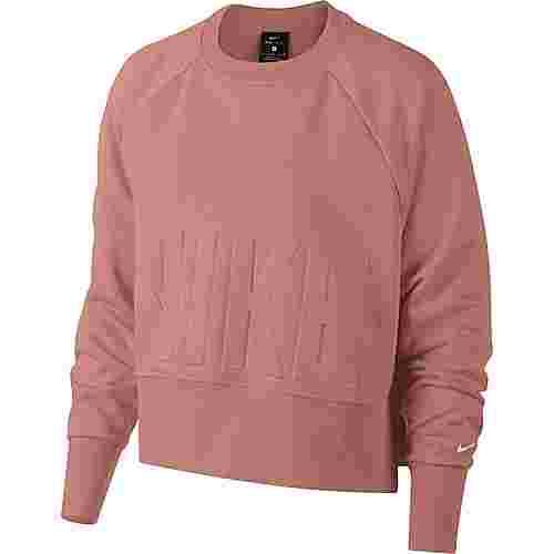 Nike Sweatshirt Damen rust pink-pure platinum