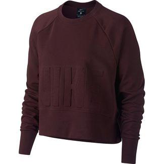 Nike Sweatshirt Damen burgundy crush-black