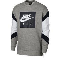 Nike Sweatshirt Herren dk grey heather-black-white