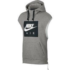 Nike Hoodie Herren dk grey heather-black