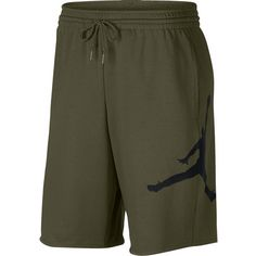 Nike JUMPMAN AIR FLEECE SHORT Basketball-Shorts Herren olive canvas-black