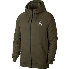 Nike Jumpman Fleece FZ Sweatjacke Herren olive canvas-white