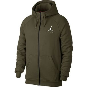 Nike Jumpman Fleece FZ Sweatjacke Herren olive canvas-white