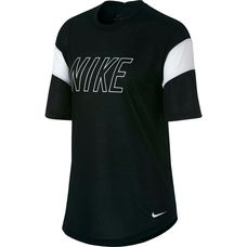 Nike Dry T-Shirt Damen black-white-white