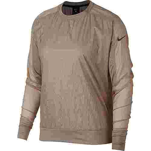 Nike Running Devision Laufshirt Damen diffused taupe