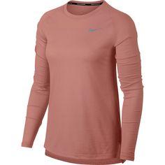 Nike Tailwind Laufshirt Damen rust pink