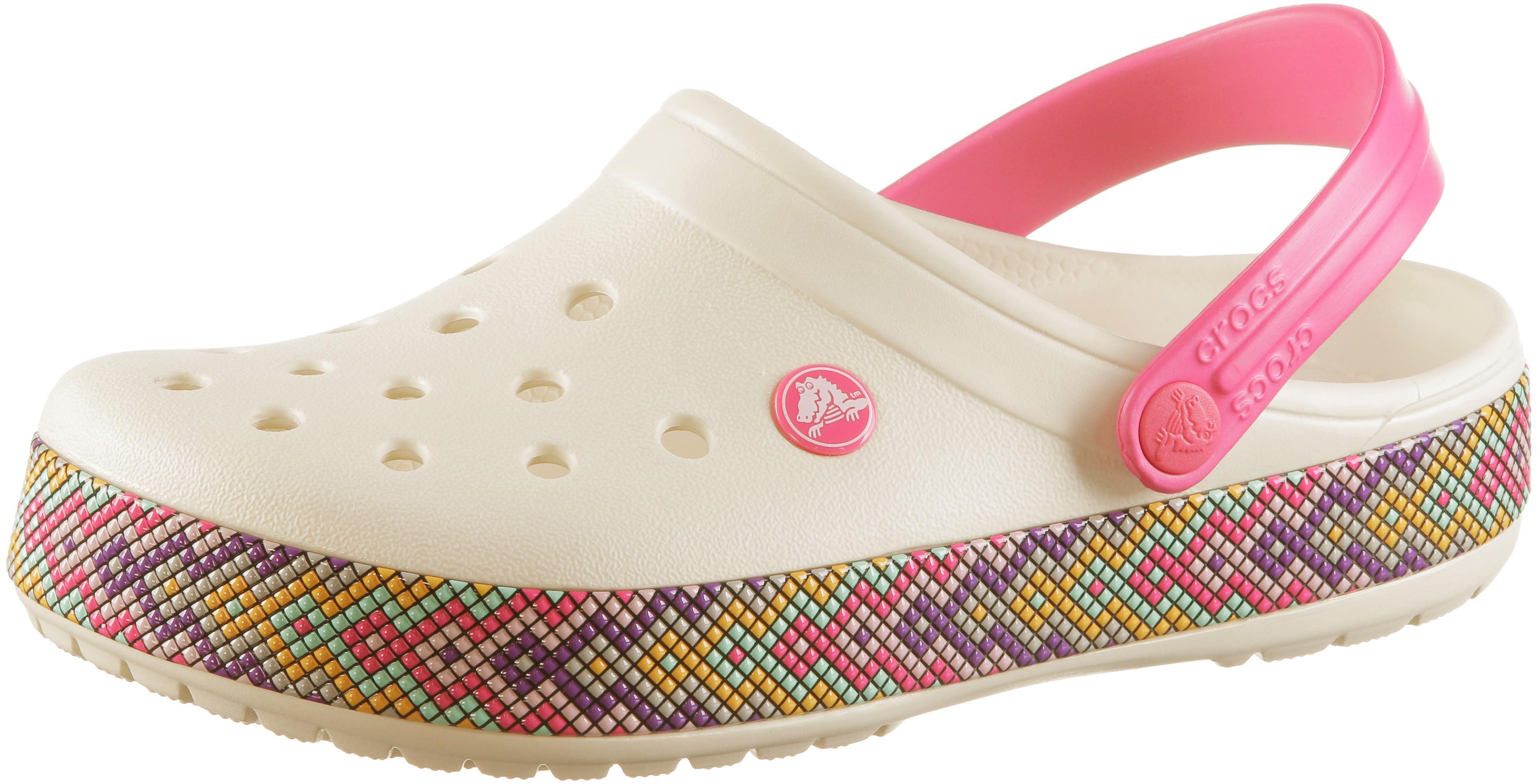 low priced da67e 8d333 Crocs Crocband Gallery Badelatschen Damen oyster im Online Shop von  SportScheck kaufen