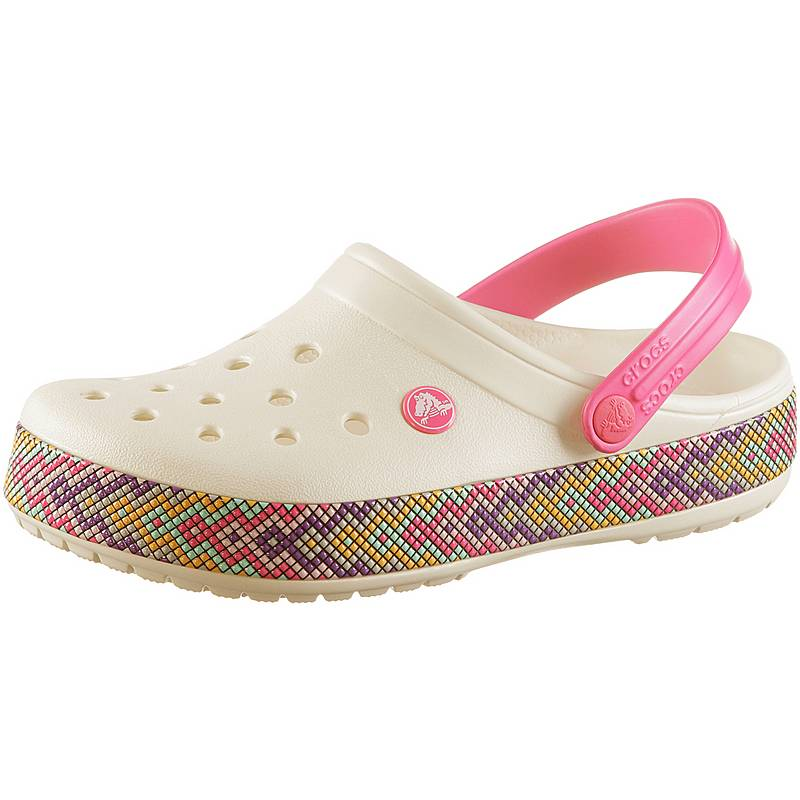 5f6eafa3db1afe crocs damen Crocs Crocband Gallery Badelatschen Damen oyster im Online Shop  von .