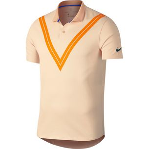 watch d2337 33fcb Nike NY Federer Day Advantage Polo Tennis Polo Herren guava ice