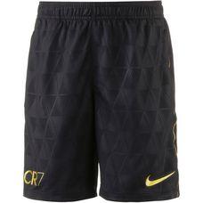 Nike CR7 Fußballshorts Kinder black-metallic gold-metallic gold