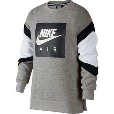 Nike Sweatshirt Kinder dk grey heather-white-black