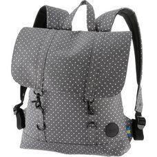 Enter Daypack melange grey white polka dot