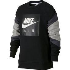 Nike Sweatshirt Kinder black-dk grey heather-anthraci