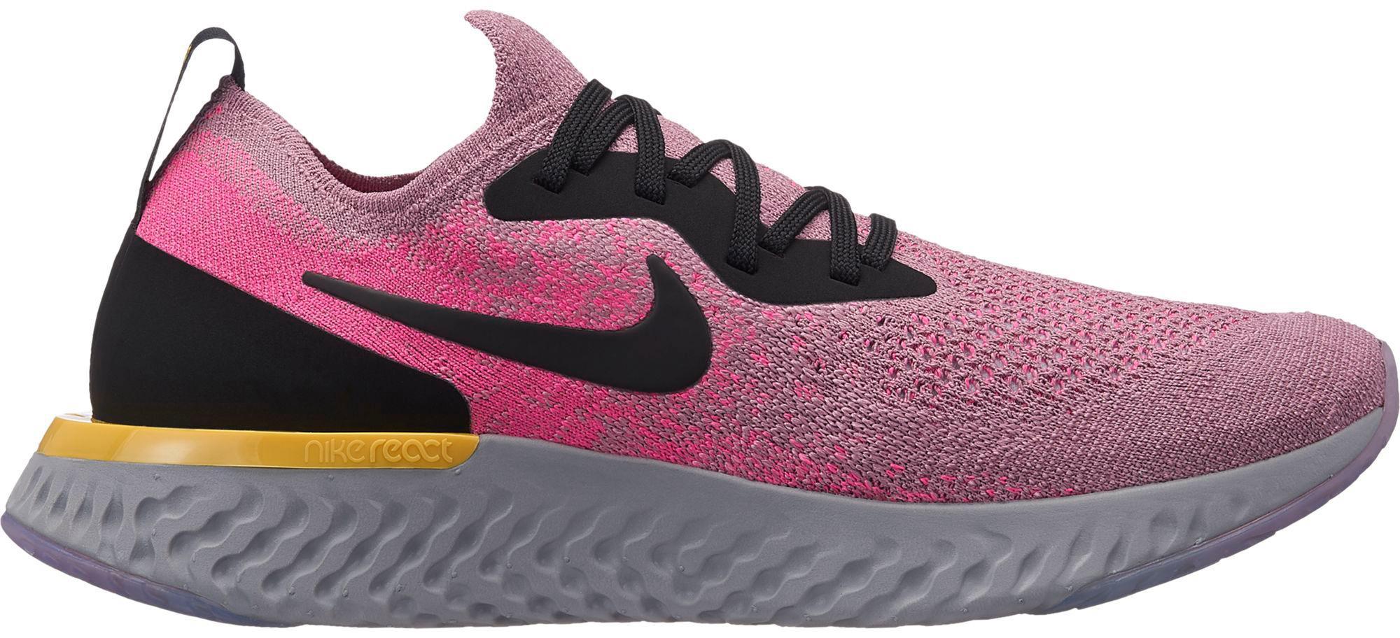 6814d5a08d02a Nike EPIC REACT FLYKNIT Laufschuhe Damen plum dust-black-pink-blast-ama im  Online Shop von SportScheck kaufen