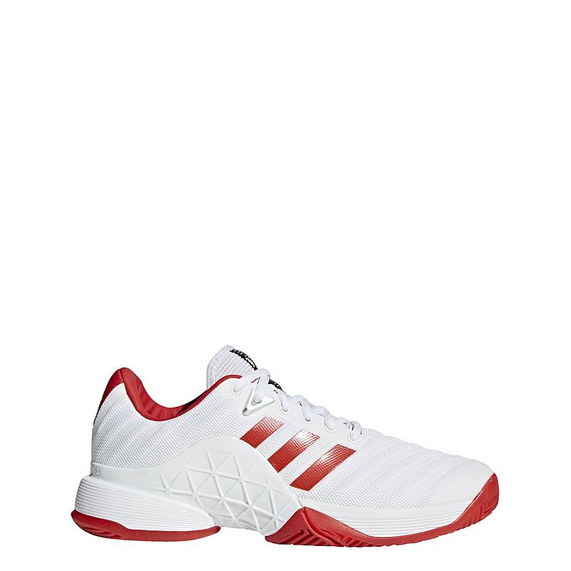 san francisco aa339 c4f7a adidas Barricade 2018 Schuh Multifunktionsschuhe Damen Ftwr  WhiteScarletScarlet