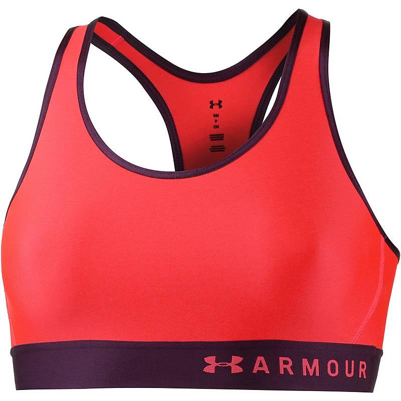 ef73973c46e7 Under Armour Armour Mid Keyhole Sport-BH Damen neon coral-merlot-neon coral