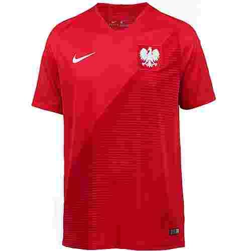 Nike Polen 2018 Auswärts Fußballtrikot Herren sport red-gym red-white