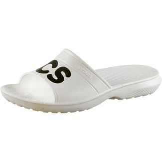 Crocs Graphic Slide Badelatschen white/black
