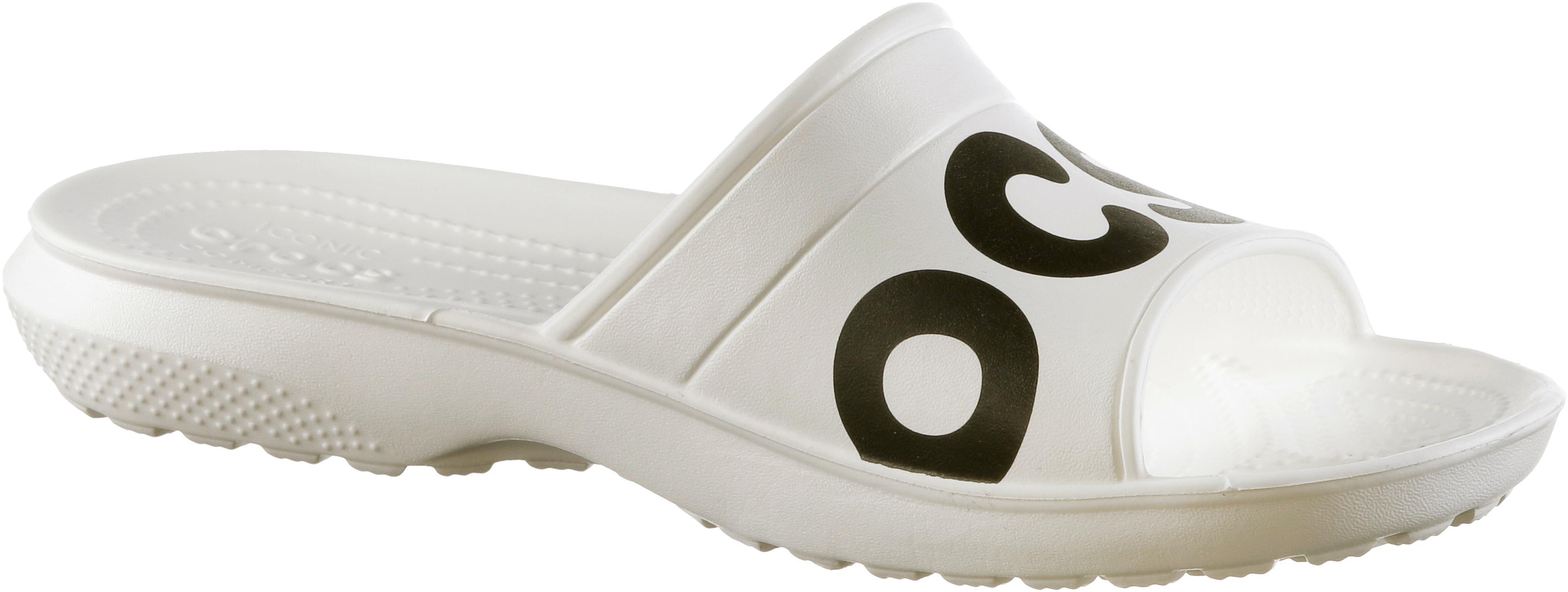 Crocs Graphic Slide Badelatschen schwarz Weiß im Online Shop Shop Shop von SportScheck kaufen Gute Qualität beliebte Schuhe 645351
