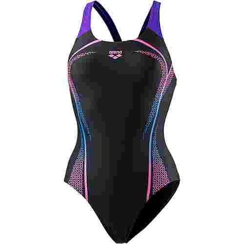 Arena Modular Badeanzug Damen schwarz-pink-lila