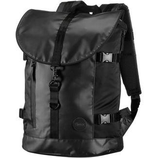 Enter Rucksack Daypack black heavy nylon black leather