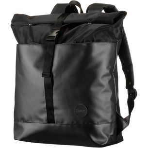 Enter Daypack black heavy nylon black leather