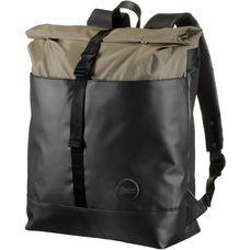 Enter Daypack army heavy nylon black leather
