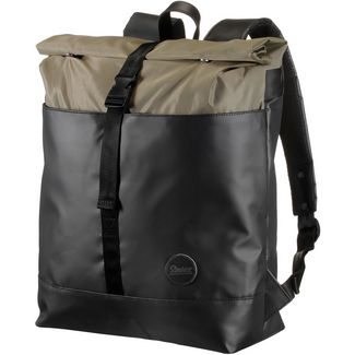 Enter Rucksack Daypack army heavy nylon black leather