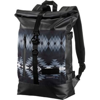 Enter Rucksack Daypack papago park pendleton print black leather