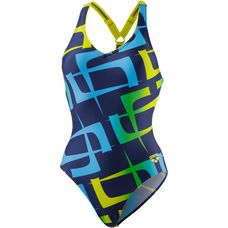 Arena Scrwal Badeanzug Damen blau-gelb-grün