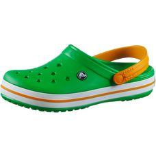 Crocs Crocband Pantoletten grass green/white/blazing orange