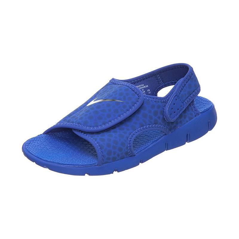 new style 5b498 bb57d NikeSunray Adjustable 4 SandalenKinder blau   dunkelblau