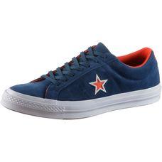 CONVERSE ONE STAR OX Sneaker Herren navy-white-bright poppy