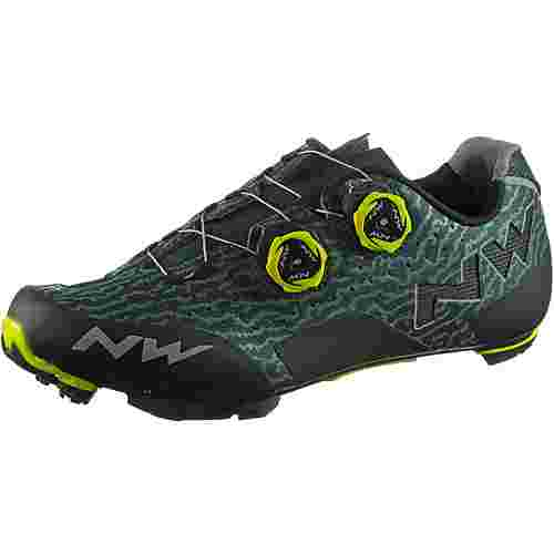 Northwave Rebel Fahrradschuhe Herren green gable/yellow fluo