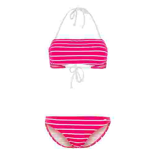 KangaROOS Bikini Set Damen pink-weiß