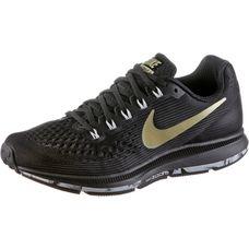 Nike WMNS NIKE AIR ZOOM PEGASUS 34 Laufschuhe Damen black-mtlc-gold-star-anthacit