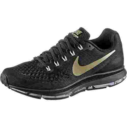 Nike WMNS NIKE AIR ZOOM PEGASUS 34 Laufschuhe Damen black-mtlc-gold-star-anthacit